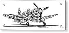 F4u Corsair Acrylic Print by Dale Jackson