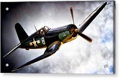 F4u Corsair 'jolly Roger Jump' Acrylic Print
