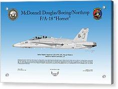 Fa-18 Hornet Acrylic Print by Arthur Eggers