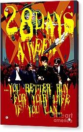 Fab4 Zombie Run Acrylic Print