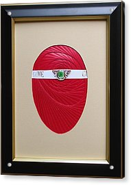 Acrylic Print featuring the mixed media Faberge Egg 1 by Ron Davidson