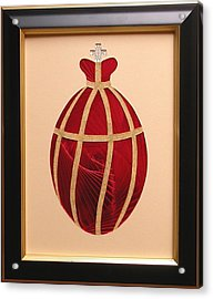 Acrylic Print featuring the mixed media Faberge Egg 2 by Ron Davidson