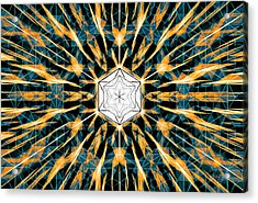 Acrylic Print featuring the drawing Fabric Of The Universe by Derek Gedney