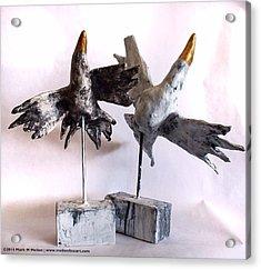 Fabulas Free Birds Acrylic Print by Mark M  Mellon