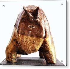 Fabulas Gold And Bronze Taurus  Acrylic Print by Mark M  Mellon