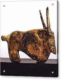 Fabulas Gold Taurus  Acrylic Print by Mark M  Mellon