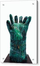Fabulas Malachite Hand Acrylic Print by Mark M  Mellon