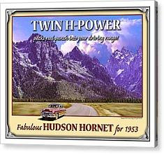Fabulous Hudson Hornet For 1953 Acrylic Print