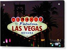 Fabulous Las Vegas Acrylic Print by John Malone