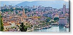 Fabulous Split Waterfront Aerial Panorama Acrylic Print