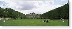 Facade Of A Building, Ecole Militaire Acrylic Print by Panoramic Images