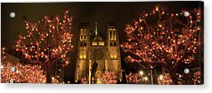 Facade Of A Church, Grace Cathedral Acrylic Print by Panoramic Images