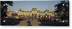 Facade Of A Railroad Station Acrylic Print by Panoramic Images
