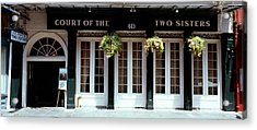Facade Of A Restaurant, Court Of Two Acrylic Print by Panoramic Images