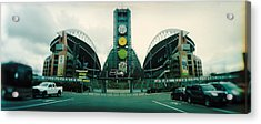 Facade Of A Stadium, Qwest Field Acrylic Print by Panoramic Images