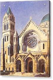 Facade Of Cathedral Basilica In St.louis Acrylic Print