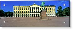 Facade Of The Royal Palace, Oslo, Norway Acrylic Print by Panoramic Images
