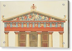 Facade Of The Temple Of Jupiter Acrylic Print