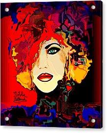 Face 14 Acrylic Print by Natalie Holland