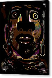 Face 15 Acrylic Print by Natalie Holland