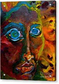 Face 6 Acrylic Print by Michelle Dommer