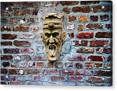 Face Fountain In Pirates Courtyard Acrylic Print