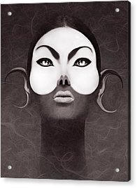Face Moon Acrylic Print by Yosi Cupano