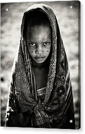 Face Of Africa Acrylic Print