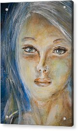 Acrylic Print featuring the painting Face Of An Angel by Nik Helbig