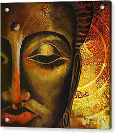 Face Of Buddha  Acrylic Print by Corporate Art Task Force
