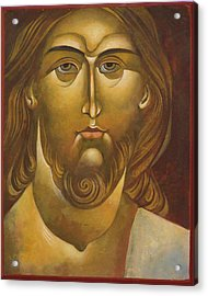 Face Of Christ Acrylic Print by Mary jane Miller