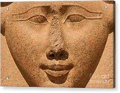Face Of Hathor Acrylic Print by Stephen & Donna O'Meara