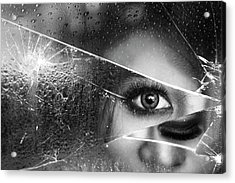 Face Of Pieces Acrylic Print