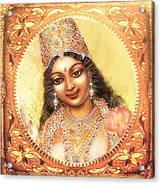Face Of The Goddess - Lalitha Devi  Acrylic Print
