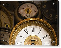Face Of Time Acrylic Print by Tom Gari Gallery-Three-Photography