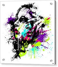 Face Paint 1 Acrylic Print by Jeremy Scott