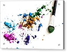 Face Paint Acrylic Print by Elyssa Drivas