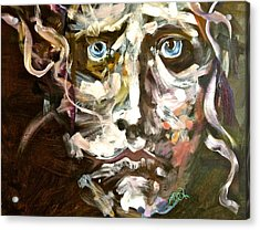 Face Series 3 Acrylic Print by Michelle Dommer
