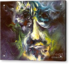 Face Series 5 The Other Side Acrylic Print by Michelle Dommer