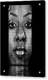 Face To Face - Crown Fountain Chicago Acrylic Print by Christine Till