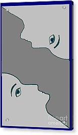Face To Face Acrylic Print by Meenal C