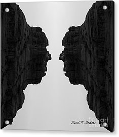 Face To Face Montage II Acrylic Print by Dave Gordon