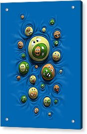 Acrylic Print featuring the digital art Emoticontagious by Ben Hartnett