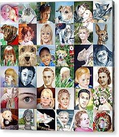 Facebook Of Faces Acrylic Print