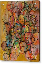 Faces In The Crowd Acrylic Print by Larry Martin