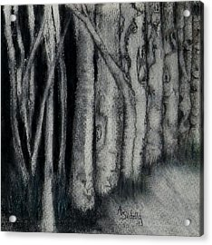 Acrylic Print featuring the painting Faces In The Night by Annamarie Sidella-Felts