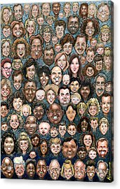 Faces Of Humanity Acrylic Print