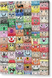 Faces Puzzle Poster Acrylic Print