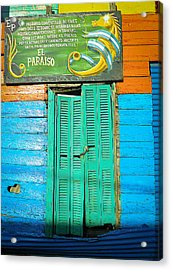 Acrylic Print featuring the photograph Fachada De Conventillo by Silvia Bruno