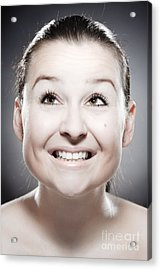 Facial Expression Acrylic Print by Wolfgang Steiner